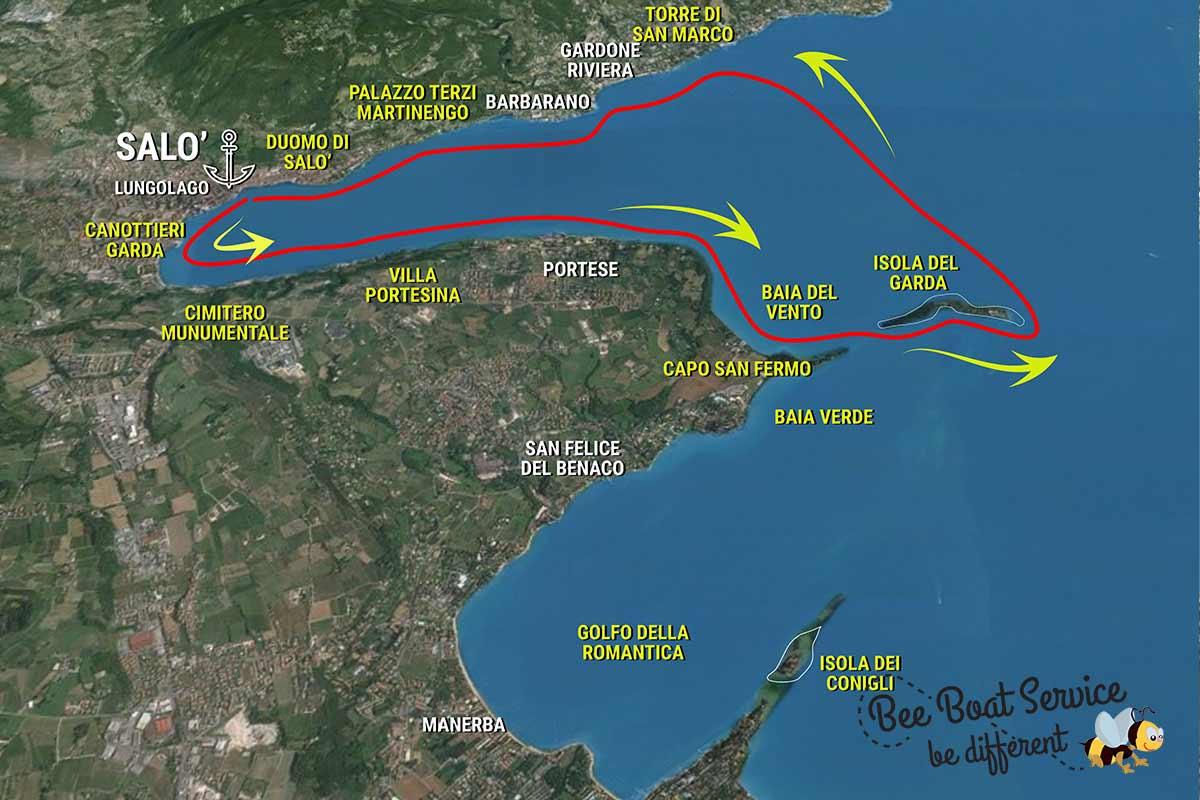 Itinerario 2 Giro turistico in barca del Lago di Garda