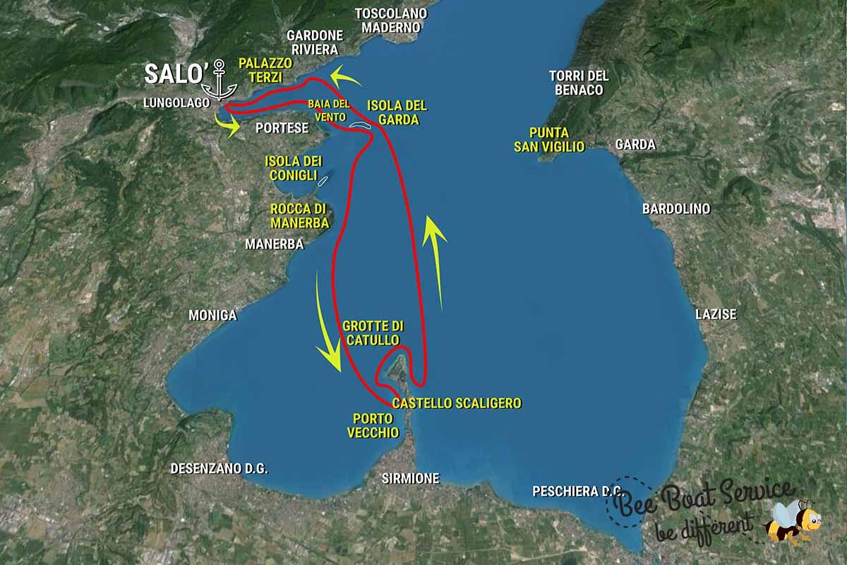 Itinerario 4 - Tour in barca alla scoperta di Sirmione