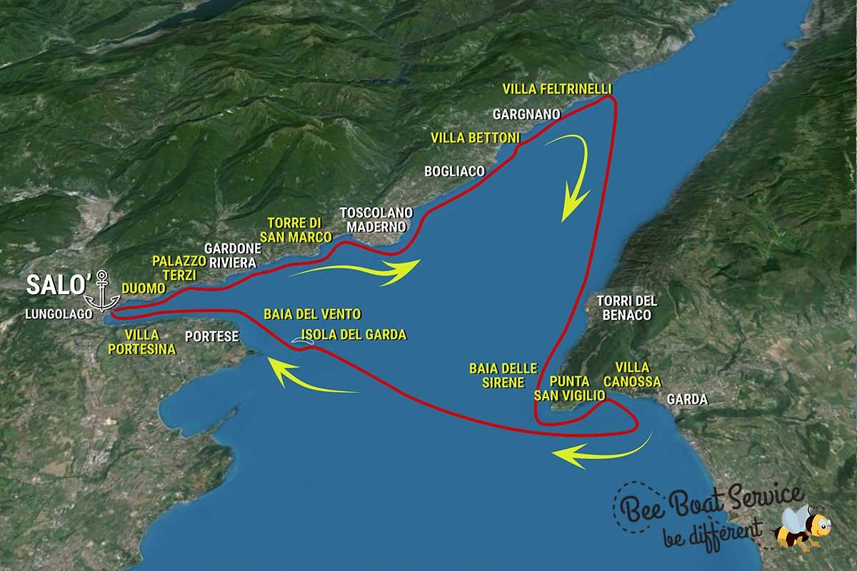 Itinerario 6 - Gargnano Villa Feltrinelli Torri del Benaco Isola del Garda