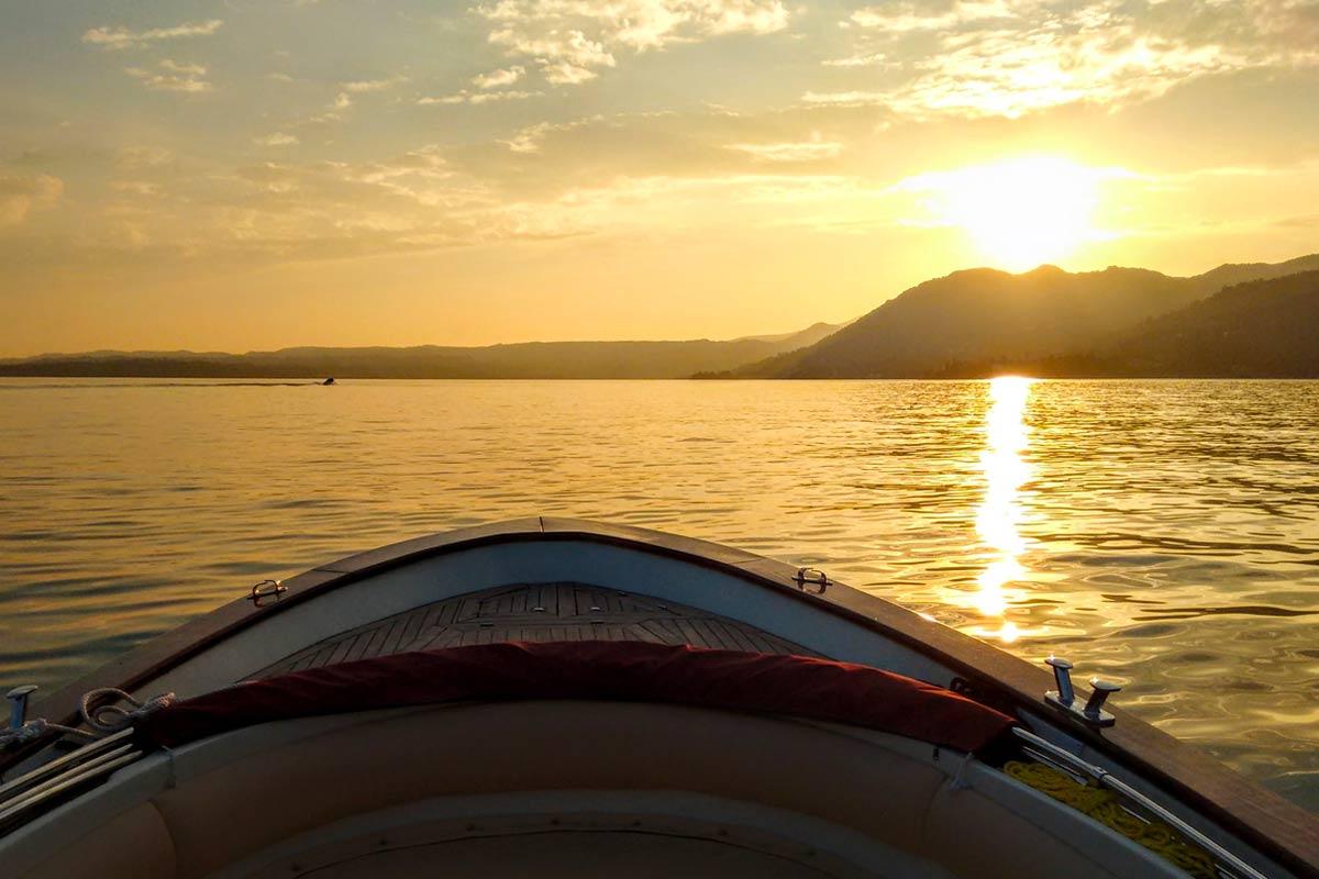 Tramonto in barca a Gragnano